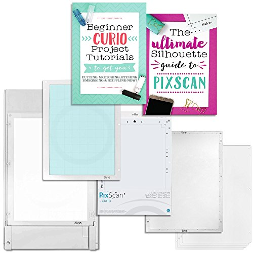 Silhouette Large Base Set with Large Curio Pixscan Mat and Starter Guides by Silhouette America