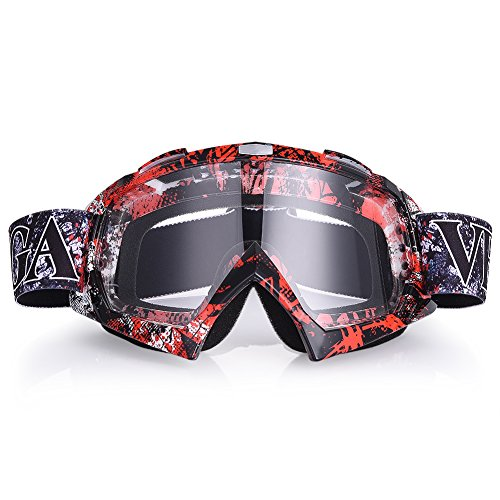 Uarter Motorcycle Goggles Ski Goggles Adjustable UV Protective Eyewear Outdoor Wind Glasses with Color White Lenses for - Varifocal Sunglasses Prescription