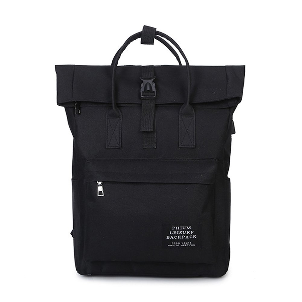 a157d0755511 Amazon.com  New 2017 Women Girls Backpack USB Charging Nylon Backpacks  School Bags For Teenagers Girl mochila feminina Students Satchel (black)   Clothing
