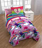 DREAMWORKS-TROLLS Trolls 'Happy Hair' Kids Twin Bed in a Bag Bedding Set with Bonus Tote- Exclusive