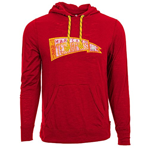 (Levelwear NCAA Maryland Terrapins Adult Men Colt Pennant Race Men's Hoodie,L,Flame Red)