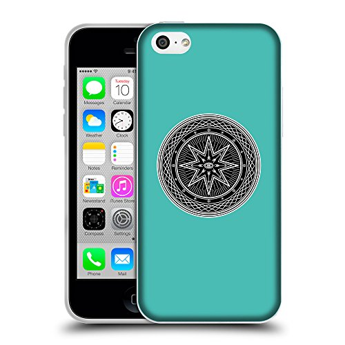 GoGoMobile Coque de Protection TPU Silicone Case pour // Q08270634 Mystique occulte 6 Turquoise // Apple iPhone 5C