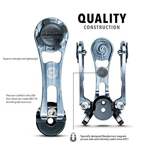❥ Rokform [iPhone 7 & 8 PLUS] Pro-Series Adjustable Aluminum Bike Mount / Holder & Protective Phone Case, Twist Lock & Magnetic Security orange iphone 8 plus case 2