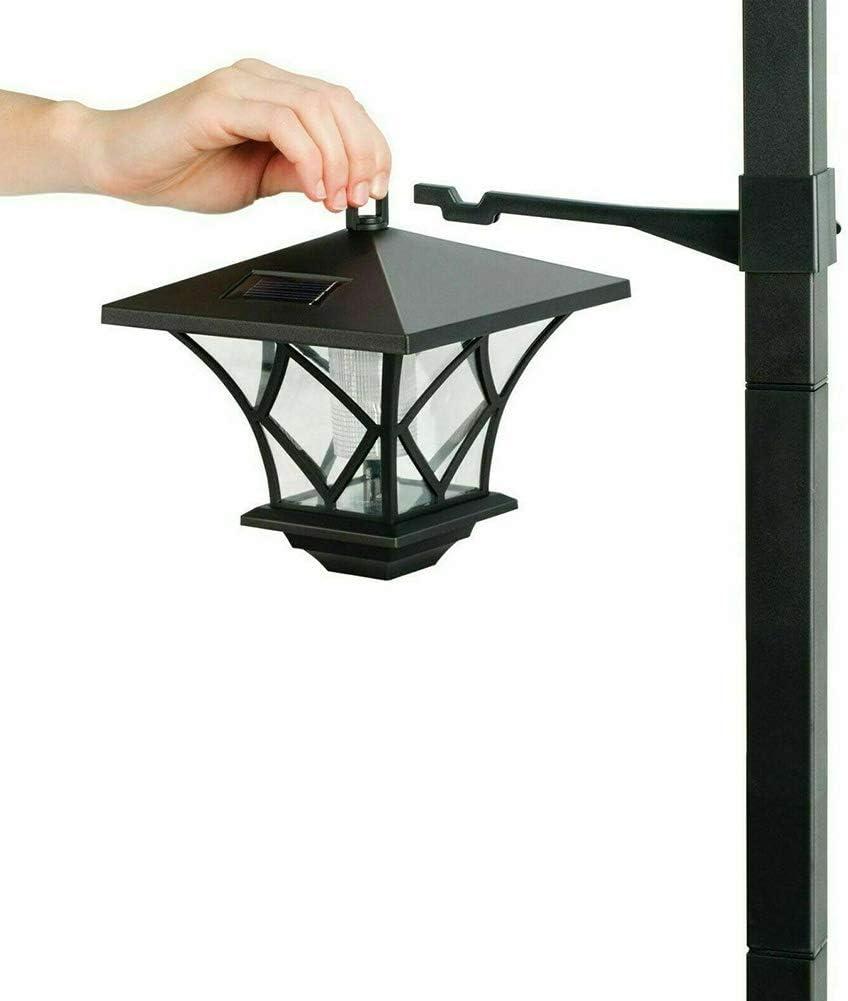 1PCS ROKF 59 Solar Hanging Lamp//Post Lights Front//Back Door Pathway Lawn Driveway Outdoor Solar Powered Vintage Street Lights Waterproof Decorative Lamp for Garden