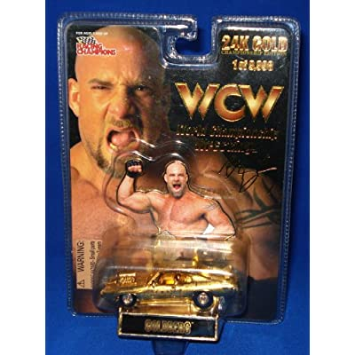 RACING CHAMPIONS WCW GOLDBERG 24K GOLD 1 of 9,998 LIMITED EDITION by WCW Series: Toys & Games