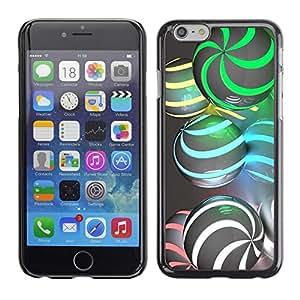 Cubierta de la caja de protección la piel dura para el Apple iPhone 6PLUS (5.5) - sphere swirl green gray
