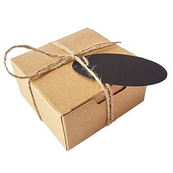 50pcs Jabón de regalo Craft cartón Caja de papel de estraza con cáñamo y etiquetas: Amazon.es: Juguetes y juegos