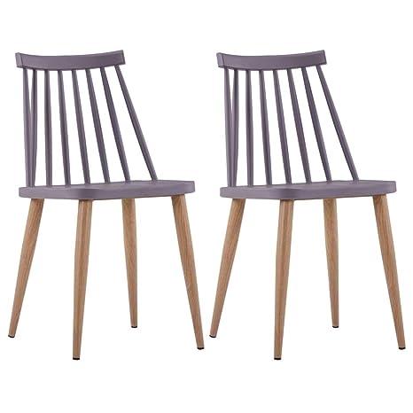vidaXL - Juego de 2 sillas de Comedor, sillas de Cocina, sillas de ...