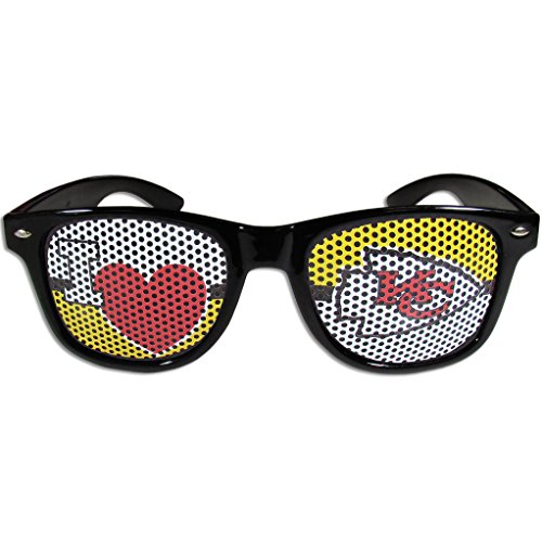 Siskiyou NFL Kansas City Chiefs I Heart Game Day Shades, Black,Adult,Black