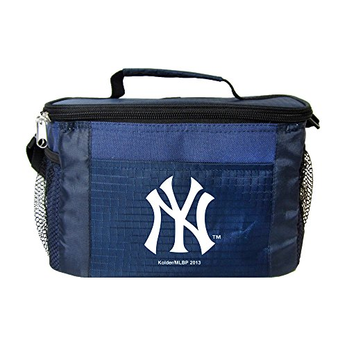 (Kolder New York Yankees Blue 6 Pack Cooler Bag - Insulated Lunch Box or Tote)