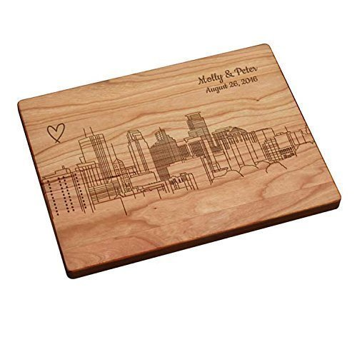 Personalized Cutting Board - Minneapolis Skyline