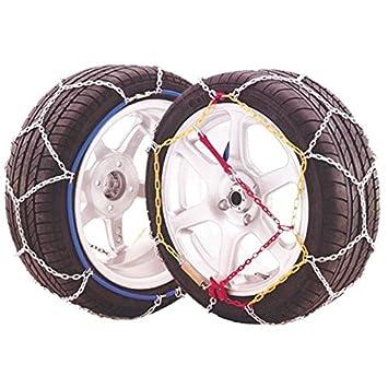 Juego 2 Cadenas eslabón metálico nieve JOPE E9 talla 120.: Amazon.es: Coche y moto