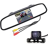 Waterproof LED rear view camera & 4.3inch TFT LCD rear view Parking Monitor parking system assembly