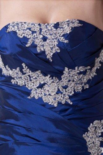 mit Taft BRIDE GEORGE Applikationen ParteiKleid Koenigsblau Liebsten E16nwq4RI