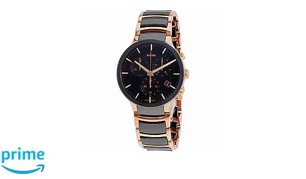 Amazon.com: Rado Centrix Chronograph Black Dial Mens Watch R30187172: Watches