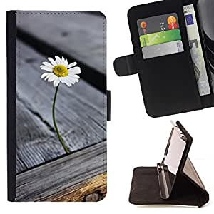Momo Phone Case / Flip Funda de Cuero Case Cover - Grano de madera de la textura gris verano - LG G4c Curve H522Y (G4 MINI), NOT FOR LG G4