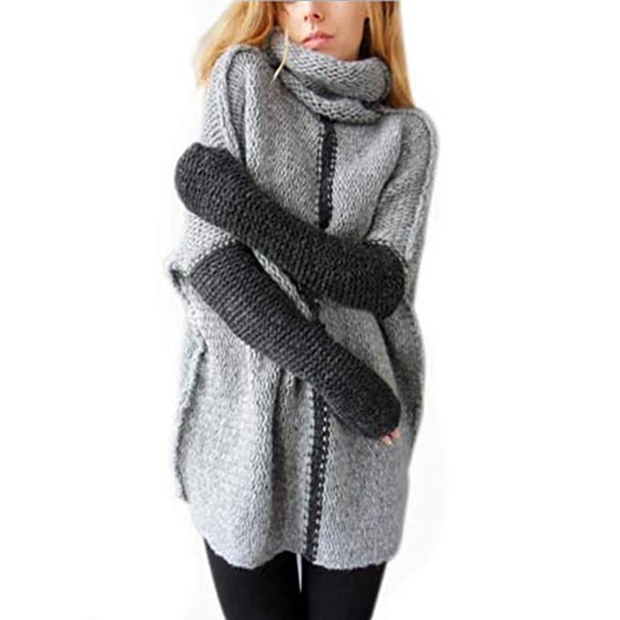 40a0e85d5f10 CEASIKERY Women Pullovers Cowl Neck Knit Sweater Top Plus Size at Amazon  Women s Clothing store
