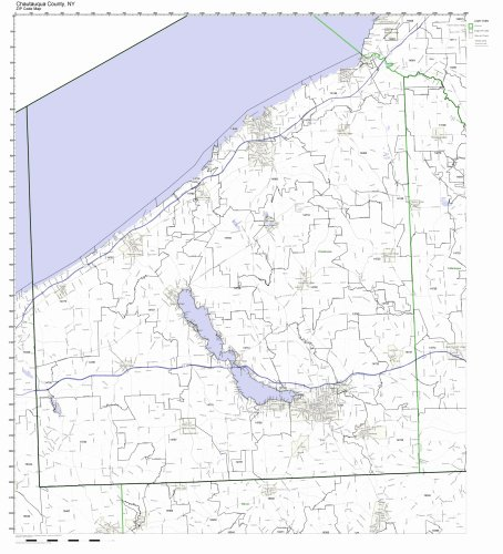 - Chautauqua County, New York NY ZIP Code Map Not Laminated