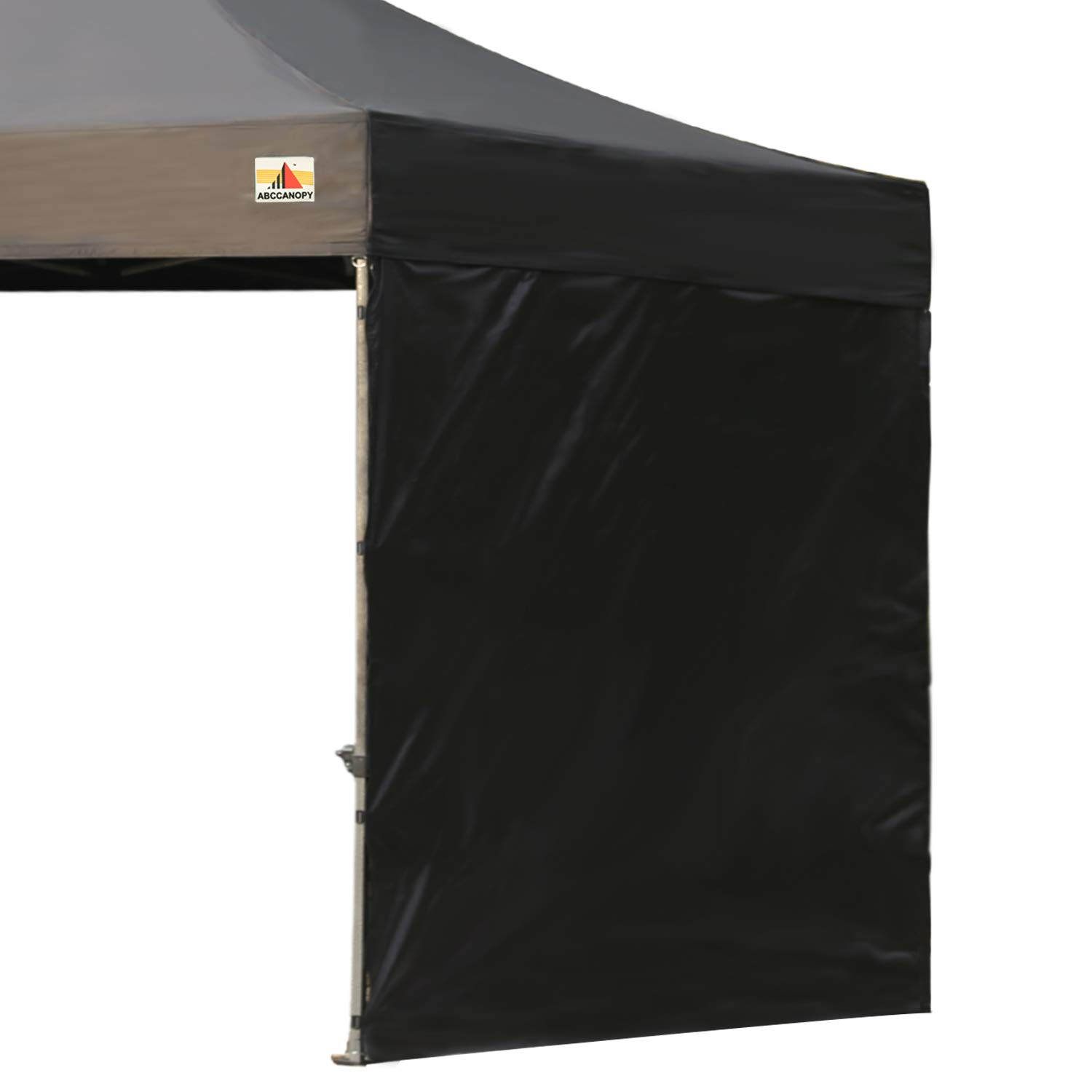 ABCCANOPY 15+Colors 10' Sun Wall for 10'x 10' Straight Leg pop up Canopy, 10' Sidewall kit (1 Panel) with Truss Straps (Black) by ABCCANOPY