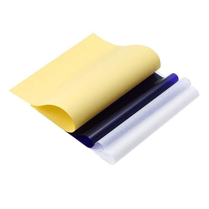 Mintice 10 hojas copiadora de carbono del tatuaje t/érmico plantilla papel de transferencia de cuerpo Copiar trazando a la piel papel A4 4 capas Arte Talla