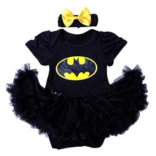 Superhero Outfit (Laudmu Infant Newborn Baby Girls Clothes Dress Outfit Set Superhero Costume Party Cosplay Romper Skirt (XL))