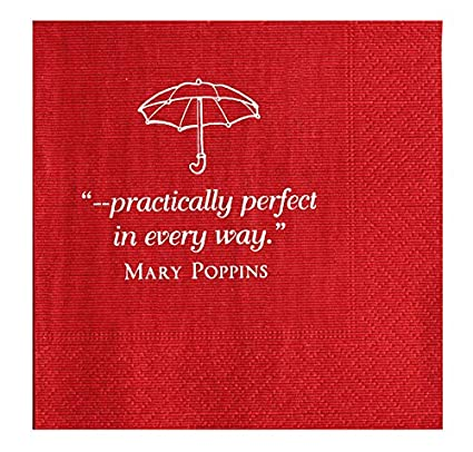 Amazon Com Mary Poppins Party Supplies 5 X 5 Paper Napkins Party
