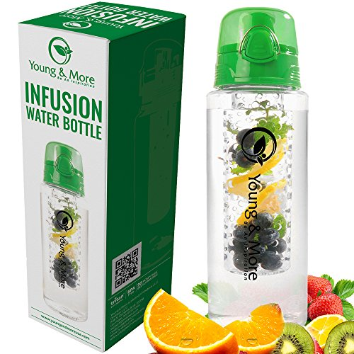 Infuser Water Bottle 31 Ounce - Made with BPA Free TRITAN - (31 Oz Bottle)