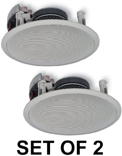 """Yamaha Natural Sound Custom Easy-to-install In-Ceiling Flush Mount 2-Way 150 watts Speaker Set (Set of 2 Speakers) with 8"""" Kevlar Cone Woofers & 1"""" Swivel Titanium Dome Tweeter Designed for Large Room or 2 Smaller Rooms"""