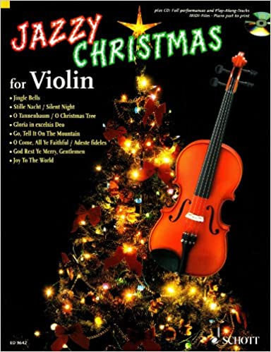 Amazon com: Jazzy Christmas for Violin - plus CD: Band Playbacks