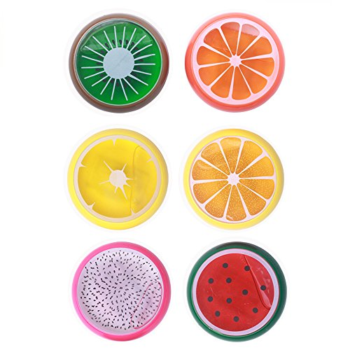 6 Colors Fruit Putty Toys Kids Magic Slime Toys For All Your Glue Putty Making Non Toxic No Borax Gift Set Party Bundle Goody Bag Filler