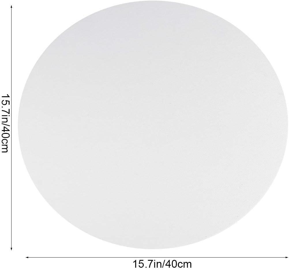 talla 2 blanco lona 30 cm decoraci/ón del hogar 6 paneles de lienzo redondos para pintar dibujos Healifty