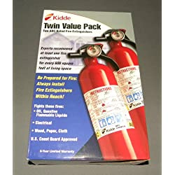 Pack of 2 Fire Extinguishers 1a10bc Home/office/kitchen/car/boat 6 Year Warranty