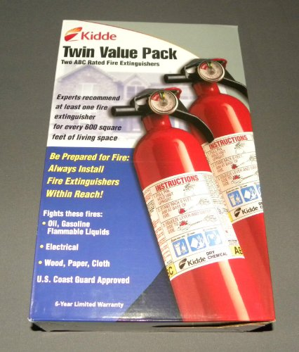 Pack-of-2-Fire-Extinguishers-1a10bc-Homeofficekitchencarboat-6-Year-Warranty