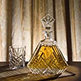 DUBLIN TRIANGULAR CRYSTAL DECANTER (Kitchen)