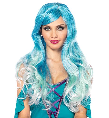Leg Avenue Women's Mermaid Ombre Wig, Blue, One Sizes Fit Most