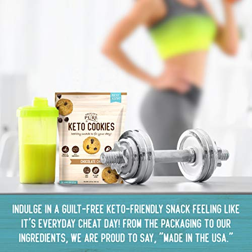 Proudly Pure Mini Bite Size On the Go 3 Pack Keto Cookie Chocolate Chip Snacks - Healthy Low Carb, Diet Friendly, Tasty and Delicious Gluten Free Food Treats Made With Real All Natural Ingredients 5