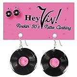 Hey Viv ! 50s Style Record Earrings: Pierced