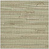 York Wallcoverings NZ0780 Grasscloth by Sea Grass Wallpaper, Pale Green, Cream, Beige, Tan, Brown