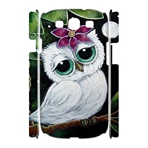 Owl Unique Design 3D Cover Case for Samsung Galaxy S3 I9300,custom cover case ygtg527900