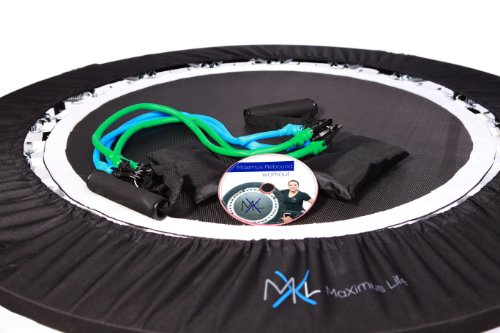 MaXimus Pro Quarter Folding Mini Trampoline Includes DVD Bar Bag Bands Weights by MXL MaXimus Life (Image #5)