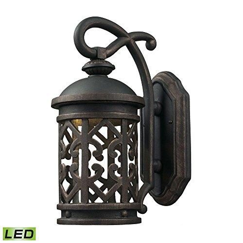 Cornerstone Lighting 7201EW/71-LED Tuscany Coast - LED 1 Light Exterior Wall Mount, Weathered Charcoal