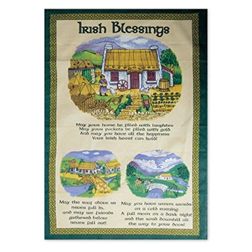 Irish Cottage Blessing Tea Towel