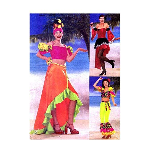 Butterick 6756 Sewing Pattern Latin Dance Costume Skirt