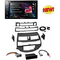 Car Radio Stereo Install Dash Kit Harness Antenna for 2008-2012 Honda Accord With Pioneer AVH-290BT Multimedia DVD Receiver with 6.2 WVGA Display and Built-in Bluetooth