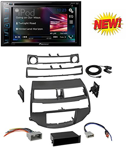 Car Radio Stereo Install Dash Kit Harness Antenna for 2008-2012 Honda Accord With Pioneer AVH-290BT Multimedia DVD Receiver with 6.2'' WVGA Display and Built-in Bluetooth by CACHE, PIONEER, AMERICAN INTERNATIONAL