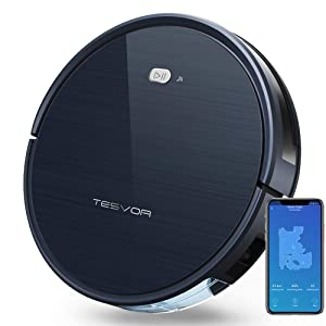 Tesvor Robot Vacuum Cleaner with Smart Mapping System, App Controls, Alexa Connectivity, Self-Charging Robotic Vacuum Cleaner for Pet Hair, Hard Floors and Thin Carpets