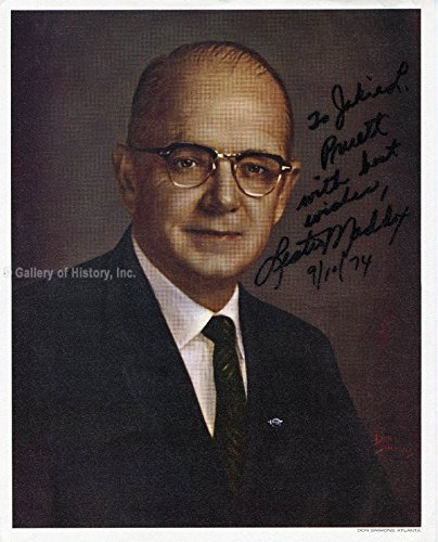 Governor Lester G. Maddox Photograph Signed 09/10/1974