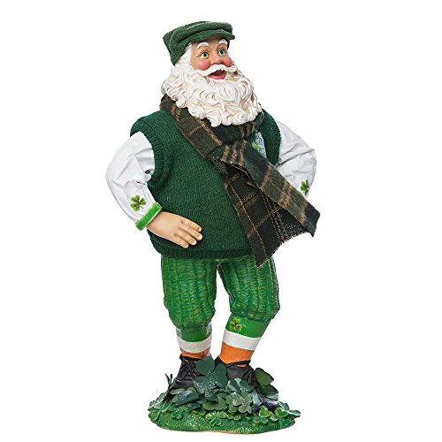 Kurt Adler 10-inch Fabrich Musical Irish Dancing Santa