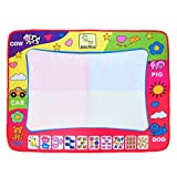 Aqua Doodle Mat, Large Magic Water Drawing Painting Writing Mat Pad Board, 2 Pen Develop Intelligence Sketch Learning Toy Gift for Boys Girls Toddlers Kids Children 4 Color 31.5 X 23.6 Inches 1 Pack