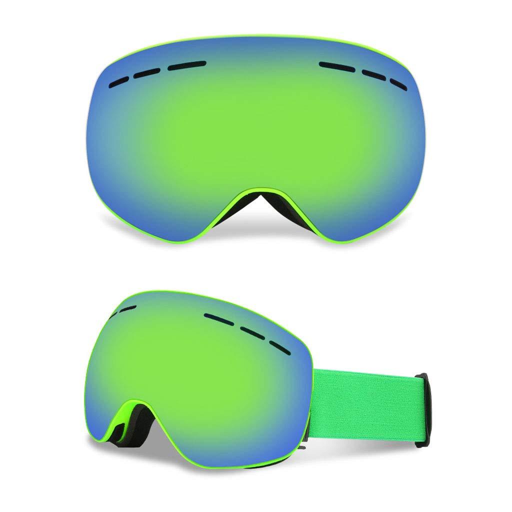 SX-CHENG Winddichte Brille - Ski Goggles Anti-Fog Snowboard Goggles Doppelobjektiv Frameless Snow Goggles UV